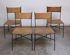 Superieur Milo Baughman Set Of Four Iron And Rush Chairs By Milo Baughman For Murray  Furniture