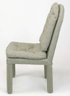 Milo Baughman Six Fully Upholstered Arch Back Dining Chairs Attr Milo Baughman - 197859