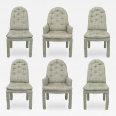 Milo Baughman Six Fully Upholstered Arch Back Dining Chairs Attr Milo Baughman - 197864
