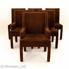 Milo Baughman Style Mid Century Dining Chairs Set of 6 - 1870228