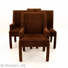 Milo Baughman Style Mid Century Dining Chairs Set of 6 - 1870229