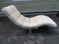 Milo Baughman Sumptuous Milo Baughman Wave Chaise Lounge Chair Midcentury - 1138623