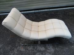 Milo Baughman Sumptuous Milo Baughman Wave Chaise Lounge Chair Midcentury - 1138624