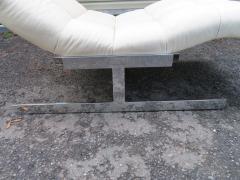 Milo Baughman Sumptuous Milo Baughman Wave Chaise Lounge Chair Midcentury - 1138625