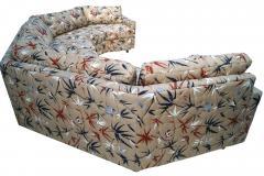 Milo Baughman Two Piece Bold Semi Hexagonal Sectional Sofa in the Manner of Milo Baughman - 1755213