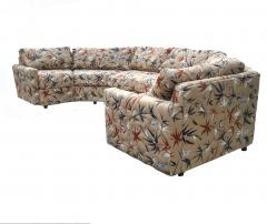 Milo Baughman Two Piece Bold Semi Hexagonal Sectional Sofa in the Manner of Milo Baughman - 1755214