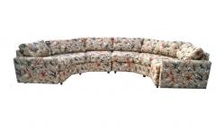 Milo Baughman Two Piece Bold Semi Hexagonal Sectional Sofa in the Manner of Milo Baughman - 1755217