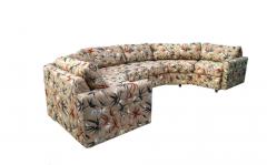 Milo Baughman Two Piece Bold Semi Hexagonal Sectional Sofa in the Manner of Milo Baughman - 1755218