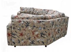 Milo Baughman Two Piece Bold Semi Hexagonal Sectional Sofa in the Manner of Milo Baughman - 1755219