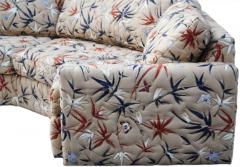 Milo Baughman Two Piece Bold Semi Hexagonal Sectional Sofa in the Manner of Milo Baughman - 1755220