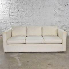 Milo Baughman White modern tuxedo style sofa by milo baughman for thayer coggin - 1668887