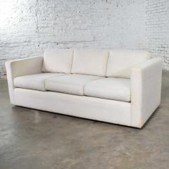 Milo Baughman White modern tuxedo style sofa by milo baughman for thayer coggin - 1668888