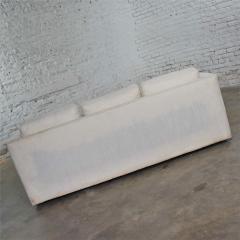 Milo Baughman White modern tuxedo style sofa by milo baughman for thayer coggin - 1668890