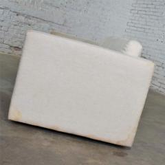 Milo Baughman White modern tuxedo style sofa by milo baughman for thayer coggin - 1668891