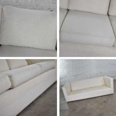 Milo Baughman White modern tuxedo style sofa by milo baughman for thayer coggin - 1668908