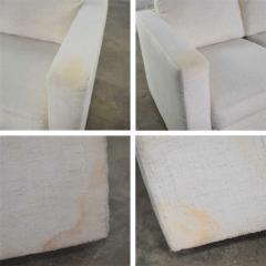 Milo Baughman White modern tuxedo style sofa by milo baughman for thayer coggin - 1668910