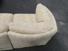 Milo Baughman Wonderful 5 Piece Signed Milo Baughman Curved Back Cube Sectional Sofa - 1709067