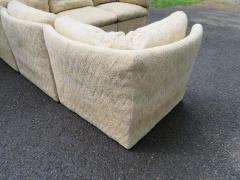 Milo Baughman Wonderful 5 Piece Signed Milo Baughman Curved Back Cube Sectional Sofa - 1709068