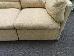 Milo Baughman Wonderful 5 Piece Signed Milo Baughman Curved Back Cube Sectional Sofa - 1709071