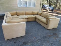 Milo Baughman Wonderful 8 Piece Milo Baughman Curved Seat Sectional Sofa Mid Century Modern - 1032289