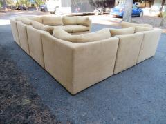Milo Baughman Wonderful 8 Piece Milo Baughman Curved Seat Sectional Sofa Mid Century Modern - 1032290