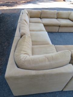Milo Baughman Wonderful 8 Piece Milo Baughman Curved Seat Sectional Sofa Mid Century Modern - 1032291