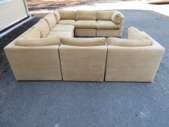 Milo Baughman Wonderful 8 Piece Milo Baughman Curved Seat Sectional Sofa Mid Century Modern - 1032292