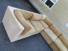 Milo Baughman Wonderful 8 Piece Milo Baughman Curved Seat Sectional Sofa Mid Century Modern - 1032293