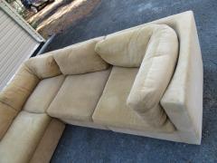Milo Baughman Wonderful 8 Piece Milo Baughman Curved Seat Sectional Sofa Mid Century Modern - 1032294