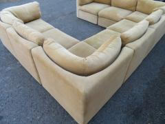 Milo Baughman Wonderful 8 Piece Milo Baughman Curved Seat Sectional Sofa Mid Century Modern - 1032297