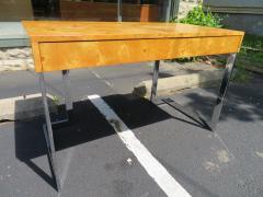 Milo Baughman Wonderful Milo Baughman Olivewood Chrome Desk Mid Century Modern - 1031063