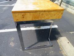 Milo Baughman Wonderful Milo Baughman Olivewood Chrome Desk Mid Century Modern - 1031069
