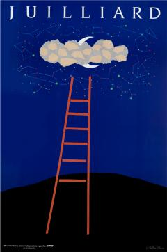 Milton Glaser Juilliard School of Music Ladder poster - 1535848