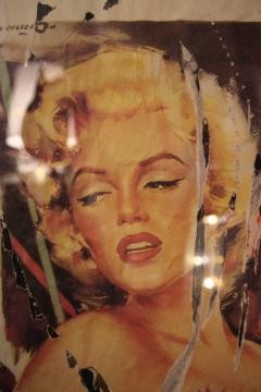 Mimmo Rotella Mimmo Rotella Marilyn Collage Painting Italy 1990 Signed - 128561