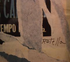 Mimmo Rotella Mimmo Rotella Marilyn Collage Painting Italy 1990 Signed - 128563