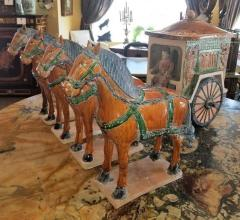 Ming Style Horses and Carriage - 1708113