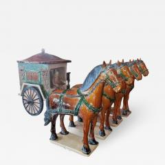Ming Style Horses and Carriage - 1709524