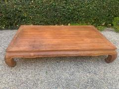 Ming Style Patinated Wooden Cocktail Table - 1749552