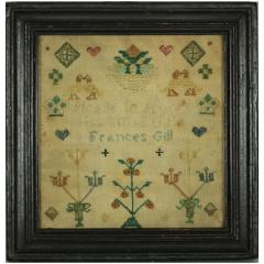 Miniature Antique Sampler by Frances Gill - 1766356