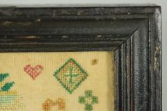 Miniature Antique Sampler by Frances Gill - 1766362