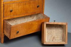 Miniature Curly Maple Chest - 123255