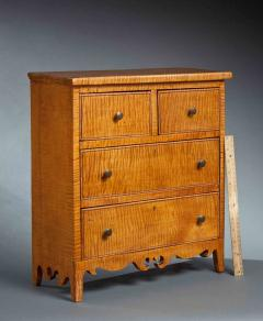 Miniature Curly Maple Chest - 123257