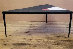 Minimal Triangle Coffee Table Mosaic Netherlands Circa 1960 - 1284794