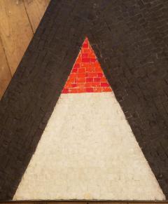 Minimal Triangle Coffee Table Mosaic Netherlands Circa 1960 - 1284799