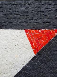 Minimal Triangle Coffee Table Mosaic Netherlands Circa 1960 - 1289557