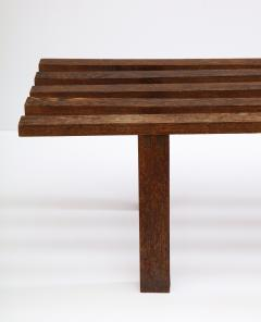 Minimalist Palmwood Bench Netherlands 1970s - 1236716