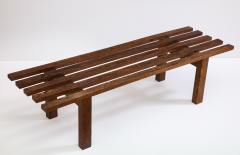 Minimalist Palmwood Bench Netherlands 1970s - 1236720