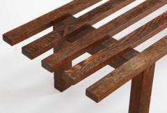 Minimalist Palmwood Bench Netherlands 1970s - 1236721