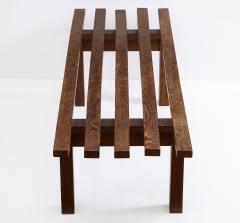 Minimalist Palmwood Bench Netherlands 1970s - 1236722