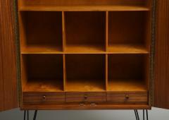 Minimalist mahogany cabinet with subtle rosewood inlay - 1373154